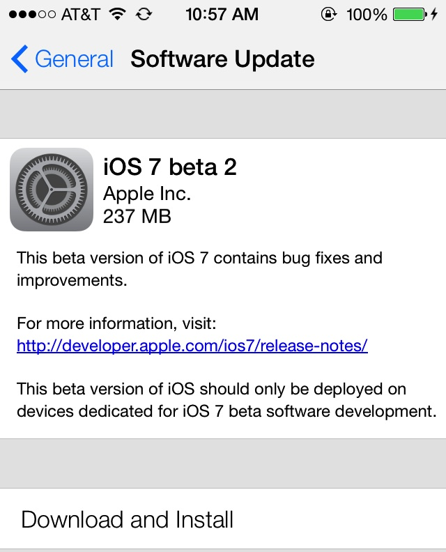 Tech etc. : ios 7 beta 2 available! (download) now for ipad!