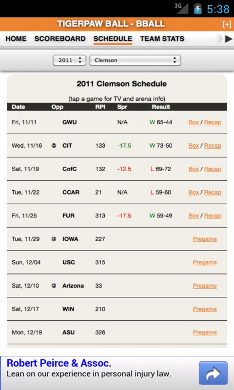 Clemson Football & Basketball - screenshot