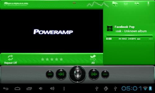 poweramp skin alien green v1.31