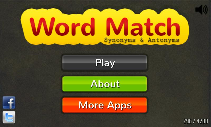 Word Match: Synonym & Antonym- screenshot