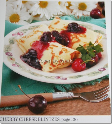 Cherry Cheese Blintzes via Woven by Words