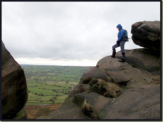 Looking out from The Roaches
