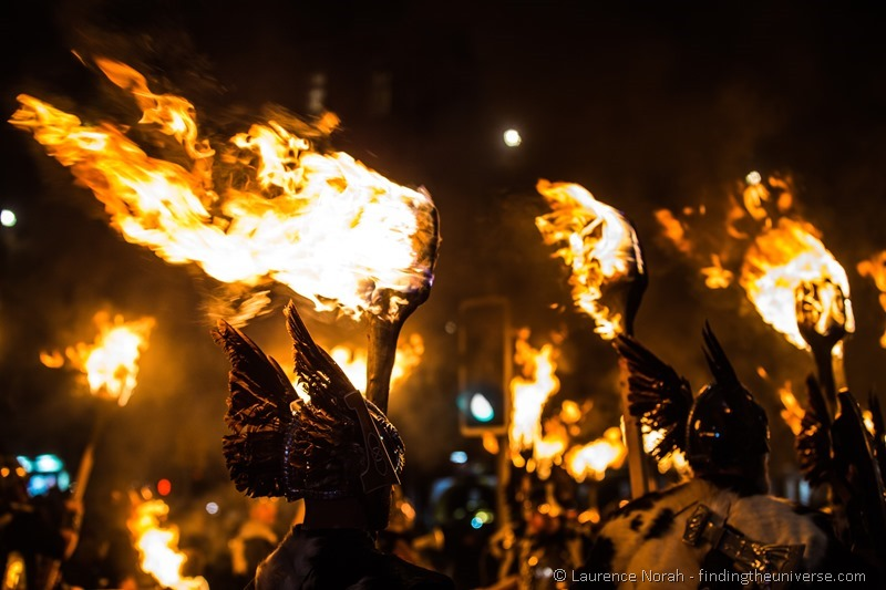Viking torchlight procession Edinburgh Hogmanay