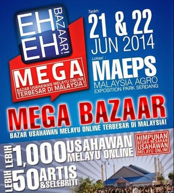 Kemeriahan di Eh Eh Bazaar MAEPS, Serdang
