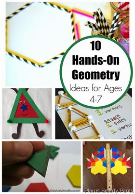 Hands On Geometry Ideas for Students Age 4-7, preK, K, and first grade