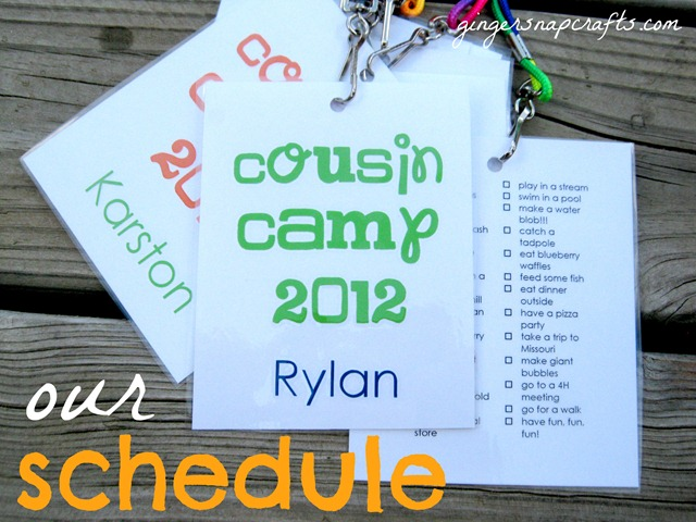 cousin camp schedule