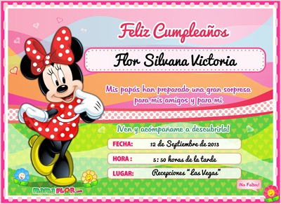 Manualidades Mamaflor Minnie Mouse