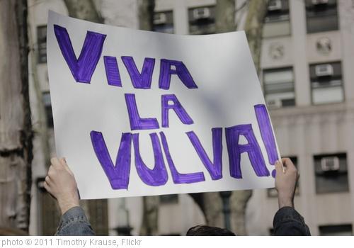 ''Viva la vulva!'' photo (c) 2011, Timothy Krause - license: http://creativecommons.org/licenses/by/2.0/
