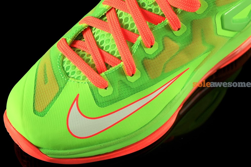 new concept 46c6f 0eb2f Nike Lebron XI Low GS in Bright Volt and Really Bright Orange ...