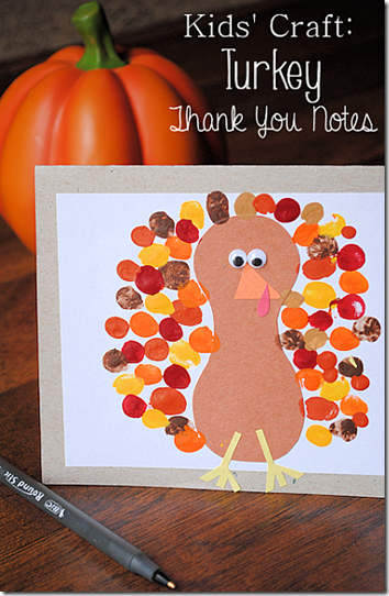 Preschool Turkey Card Craft