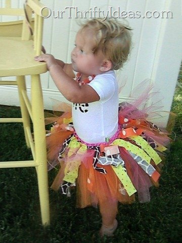 Tutorial Fabric And Tulle Tutu Our Thrifty Ideas