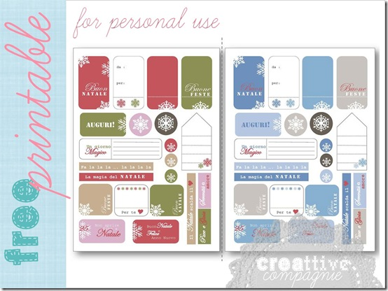 creattive free printable christmas tags