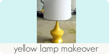 yellow lamp makeover