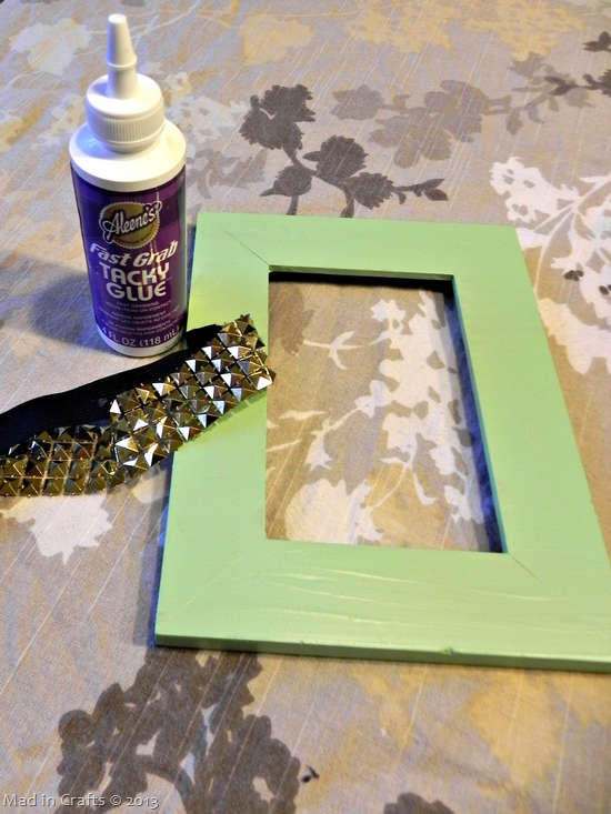 mint and gold art materials