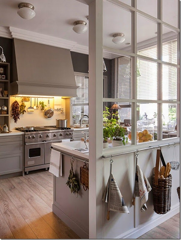 cucina - pranzo - lavanderia - vetrata - greige - country chic (1)