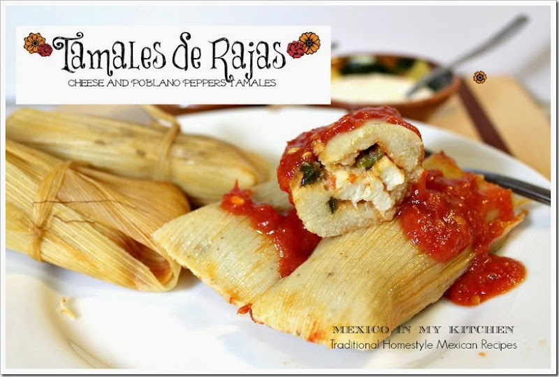 Cheese and Roasted Peppers Tamales | Tamales de Rajas Con Queso