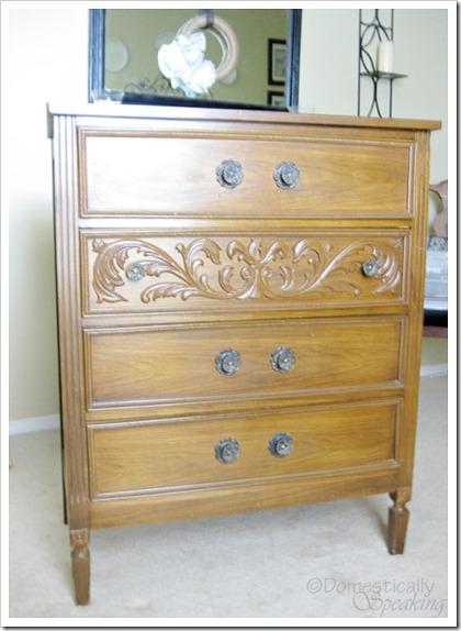Laminate Dresser before paint