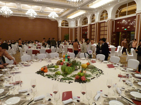 Go China Summit - banchet guvernamental: Sala banchet Hotel Crowne Plaza
