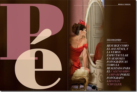 Reportaje sobre Penélope Cruz del número 6 de la revista digital multimedia LifeStyle