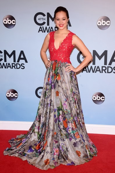 Hayley Orrantia attends the 47th annual CMA Awards