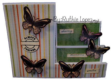 Birdwing Butterfly - step card