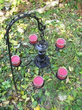 black garden candelabra