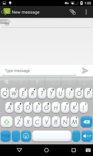 Emoji Keyboard+ White Blue
