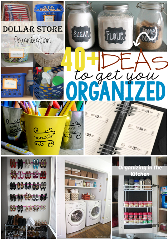 40  Ideas to Get YOU Organized at GingerSnapCrafts.com #linkparty #features
