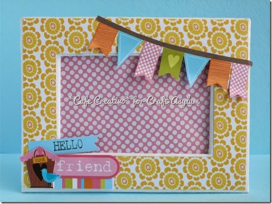 cafe creativo - scrap cornice tutorial frame