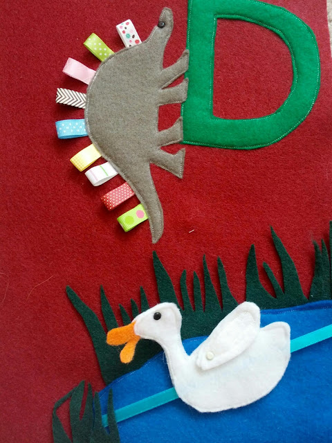 How to make a letter D themed quiet book page for an ABC quiet book
