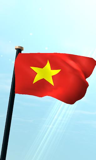 ベトナムフラグ3Dライブ壁紙