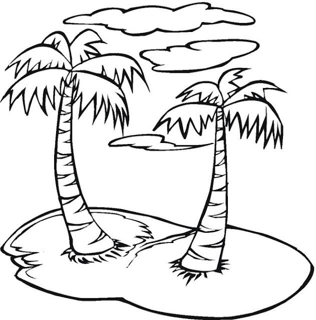 Pintar Islas Con Palmeras