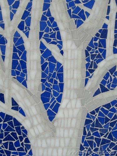 tree mosaic close up