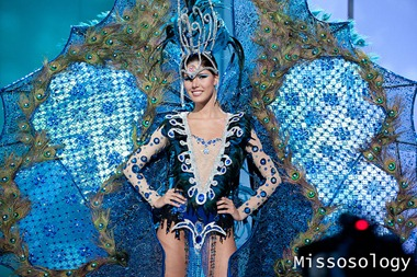 Miss Paraguay 2011, Alba Riquelme pre-tapes in her National Costume onstage at Credicard Hall on September 7, 2011. She is preparing to compete in the 2011 MISS UNIVERSE® Competition on September 12 at 9:00 p.m. ET broadcast LIVE on NBC from Credicard Hall in São Paulo, Brazil. Vote your favorite contestant into the semifinals on http://missuniverse.com/members/contestants. HO/Miss Universe Organization, L.P. LLLP