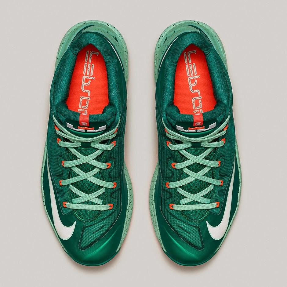 4928a838e015 ... Nike LeBron 11 Low 8220Biscayne8221 8211 Different Shades of Green ...