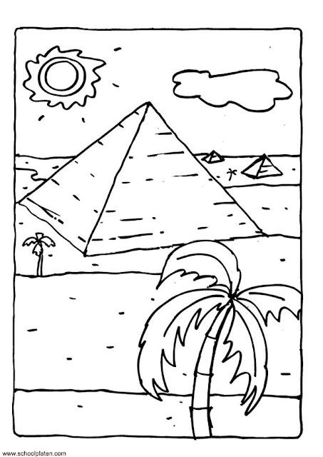 Pyramid Coloring Page