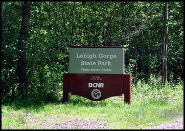 1 - Lehigh Gorge State Park Sign