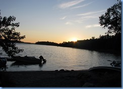 7403 Restoule Provincial Park - sunset over Restoule Lake