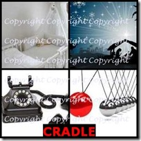 CRADLE- 4 Pics 1 Word Answers 3 Letters