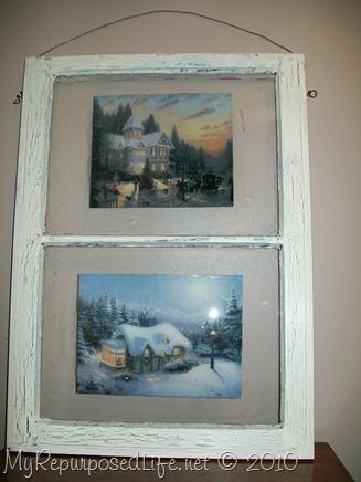 Thomas Kinkaid art decoupaged window