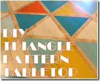 DIY TRIANGLE PATTERN TABLETOP LOGO