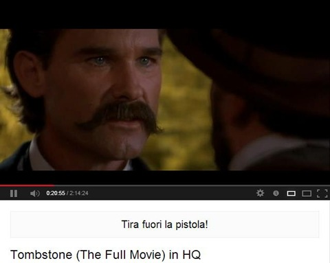 YouTube SubTitles sottotitoli sotto al player video