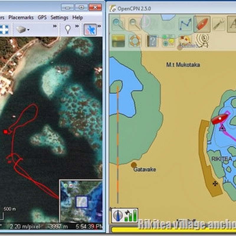 Electronic charting on Estrellita: SAS Planet & OpenCPN
