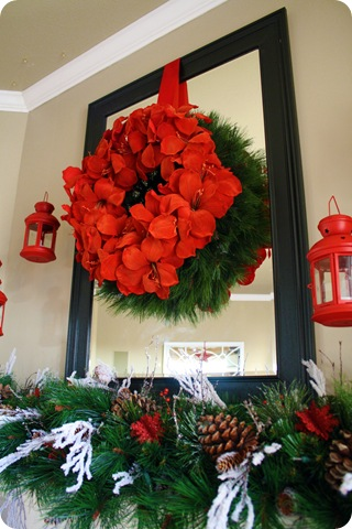 wreath over mirror