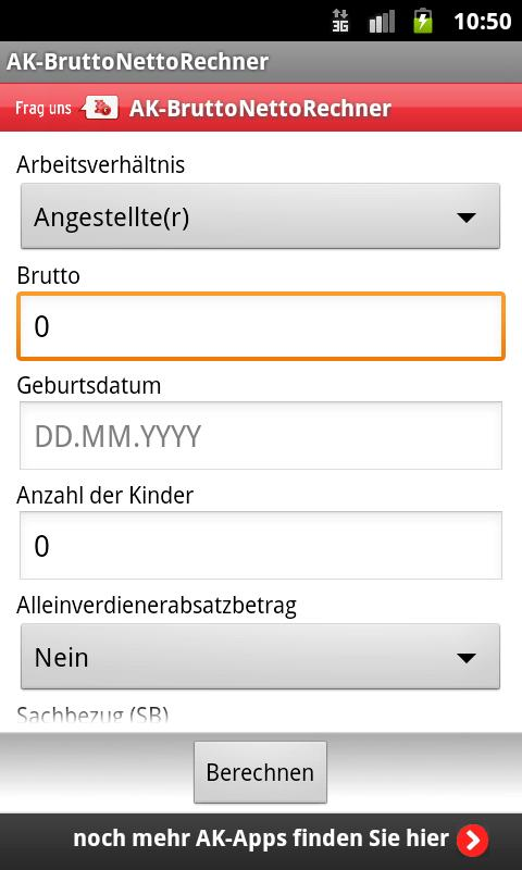 BruttoNettoRechner - screenshot