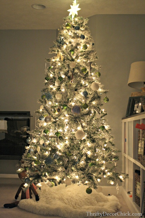 flocked tree walmart - Flocked Christmas Tree Walmart