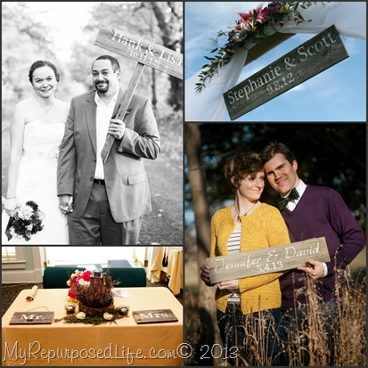 wedding signs collage