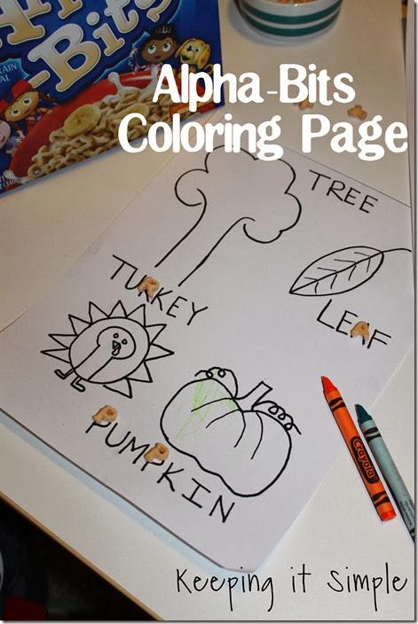 alphabits coloring page