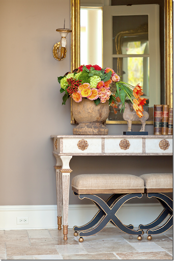 From The Magazine Shoot, The Back Entryway Shows A Collection Of Amy Howard  Collection Furniture.