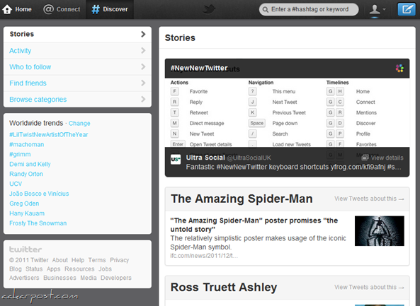 new twitter discover
